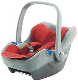 knorr-baby 30001-1 Autositz passend zu City Move, Sportime, Diamond, Apart, Alive Energy and Pure, Be Carbon, grau/rot -