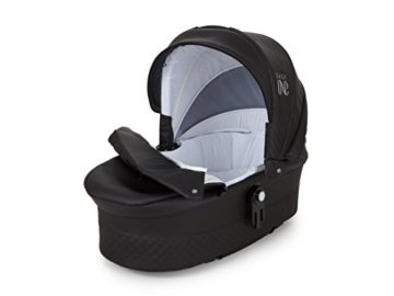 Lux4Kids Kinderwagen Set Babywanne Sportsitz Babyschale Wickeltasche Matratze 3in1 VIP Luxus Made in EU Easy One Schwarz - 5