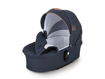 Lux4Kids Kinderwagen Set Babywanne Sportsitz Babyschale Wickeltasche Matratze 3in1 VIP Luxus Made in EU Easy One Blau & Jeans - 9