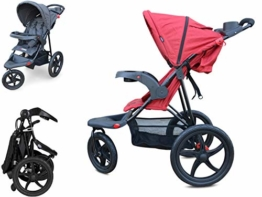 PAPILIOSHOP REBEL Dreirad buggy kinderwagen jogger mountain (Rot) - 1